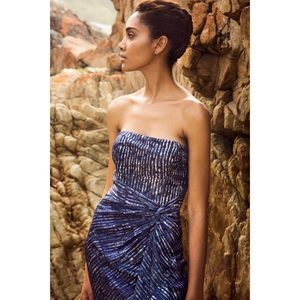 NWT BR x Piece&Co Batik Strapless Dress